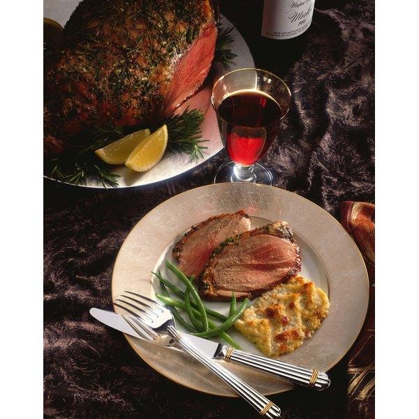 Boneless leg of lamb is easy to slice and serve.