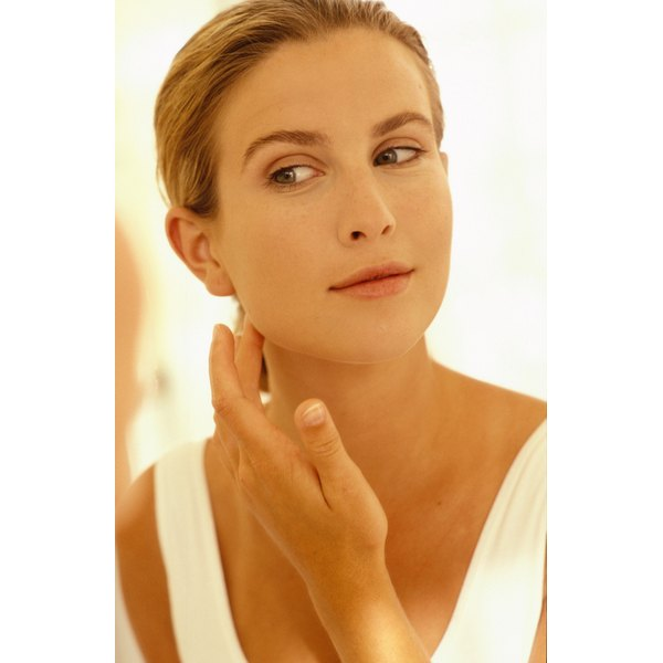 Use a large mirror with bright lighting, to help see the black chin hairs better while removing them.