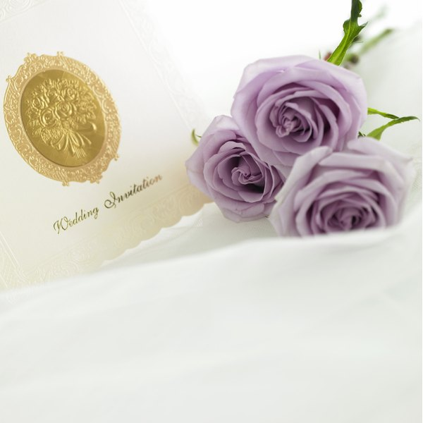 The language you use for your invitations should suit the wedding's style.