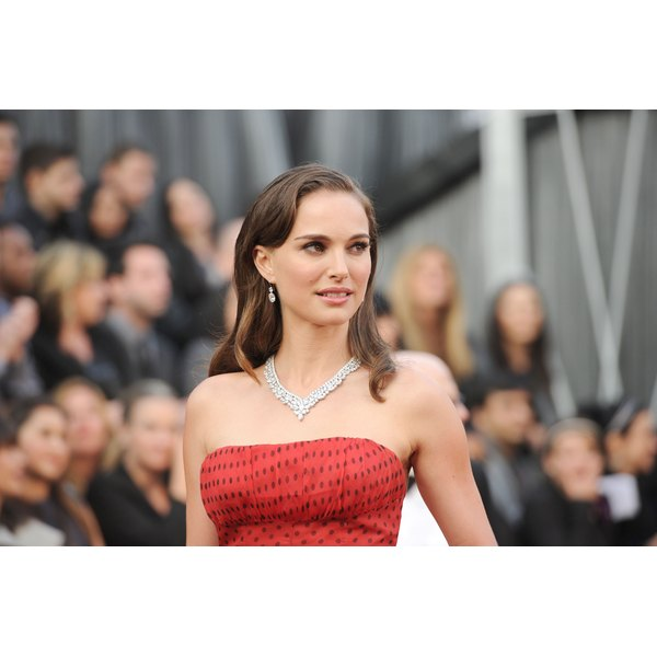 Natalie Portman walking the red carpet.
