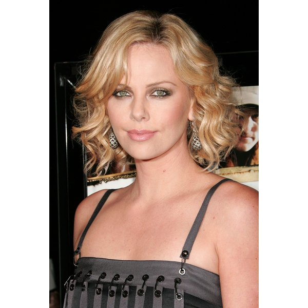 Stars such as Charlize Theron often sport the curled bob to events.