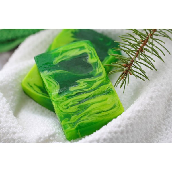 Green pine soap.