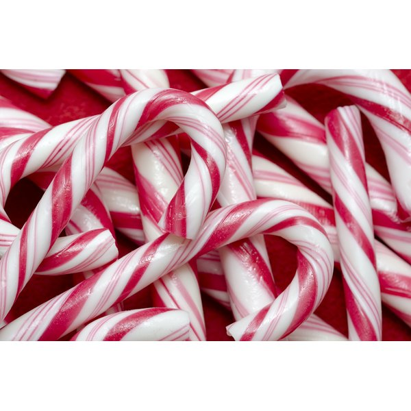 A pile of red candy canes.
