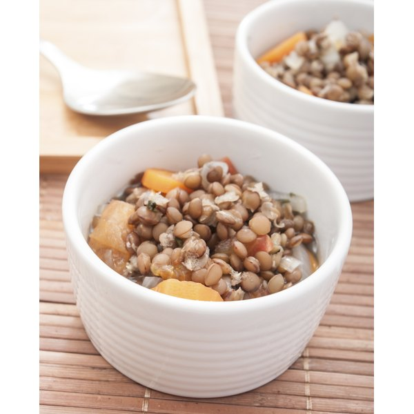 Combine barley and lentils in a hearty soup full of protein and other nutrients.