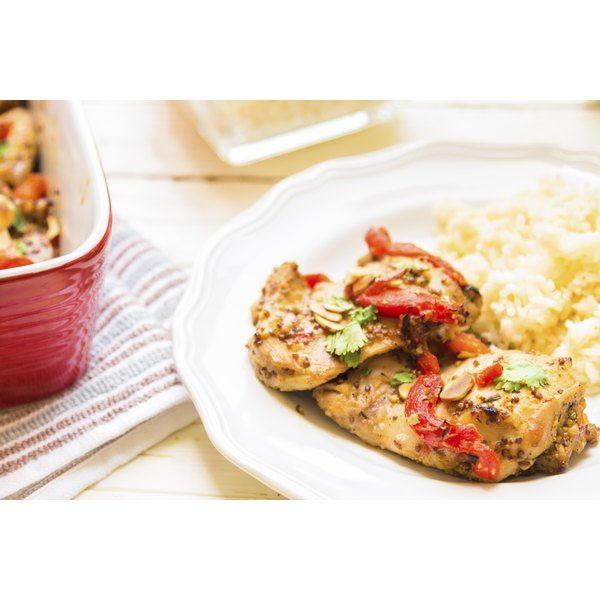 Baked chicken is perfect for a healthy family dinner.