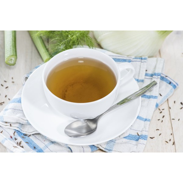 A cup of fennel tea.