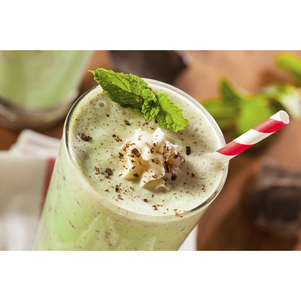 Matcha powder gives the distinct green color to green tea frappuccinos.