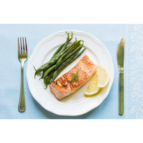 A healthy salmon meal.
