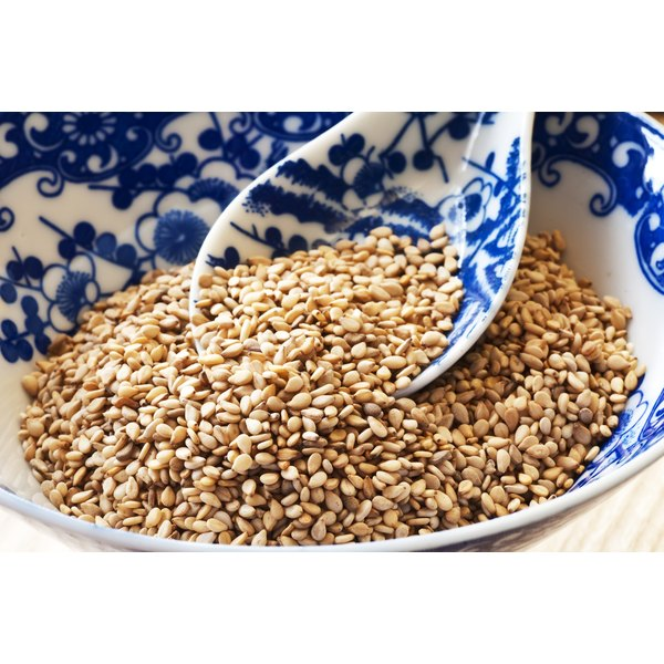 Toasted sesame seeds in a bowl.