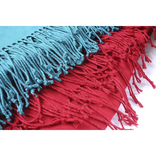 Fold your pashmina scarf carefully to store it.