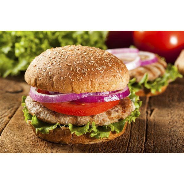 Turkey burgers can be lower in calories than regular burgers.