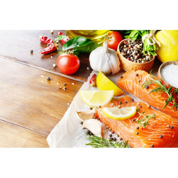Salmon filets with herbs and spices
