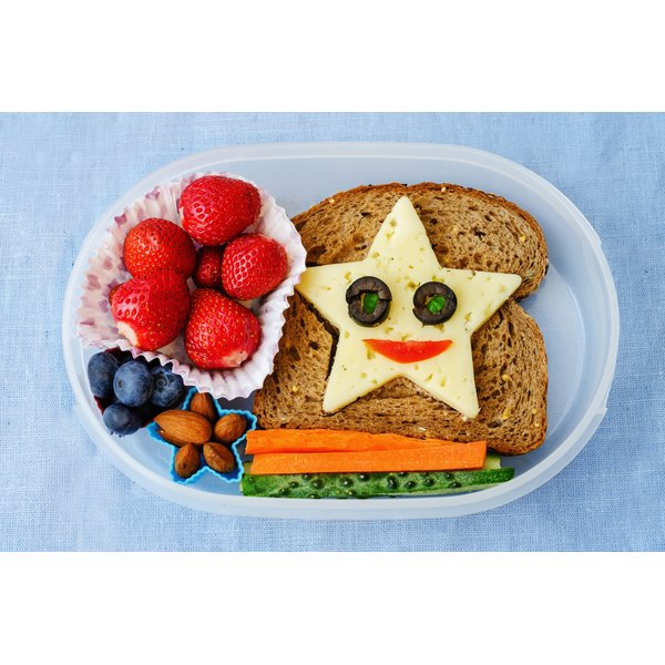 A well-rounded healthy lunch for a child.