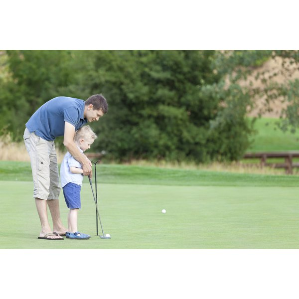Encourage your child to have while while they learn how to golf.