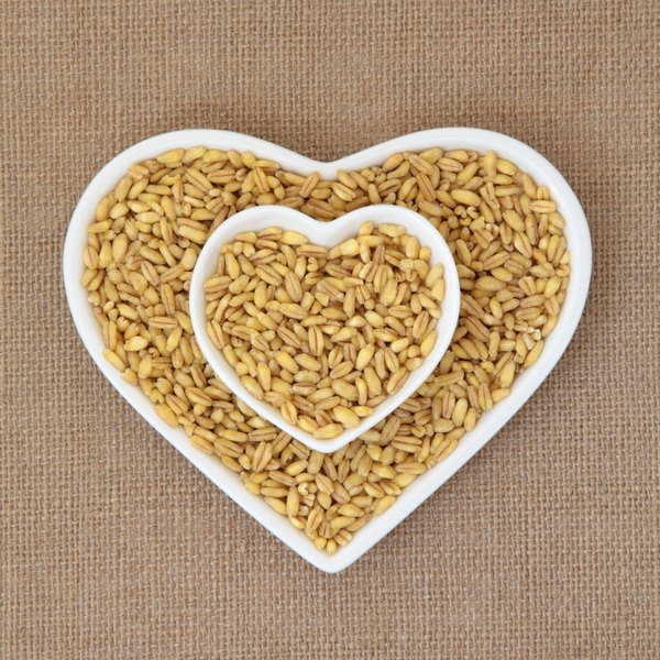Wheat berries, or whole-wheat grains, offer more manganese, but less iron, than Kamut.