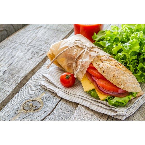 A deli meat sandwich.