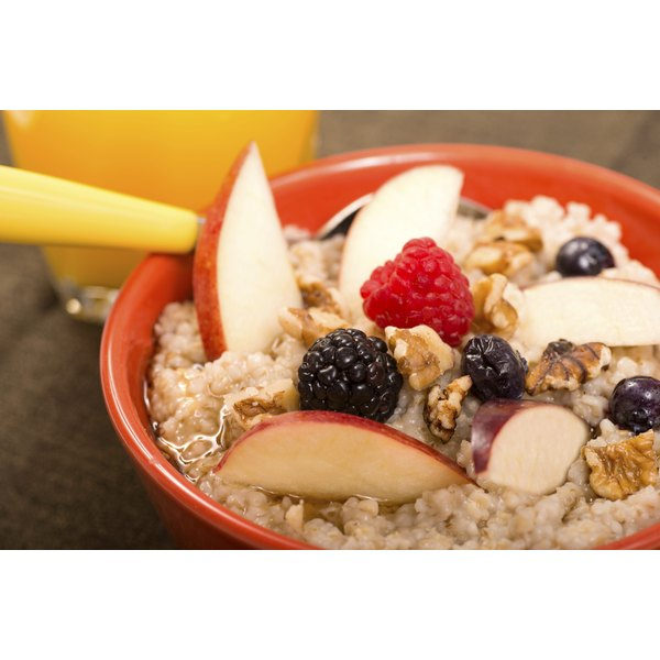 Add fresh fruit after the oats cook for flavor and color.