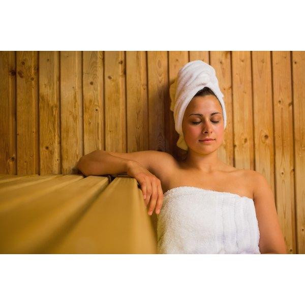 The sauna steam may help your skin.
