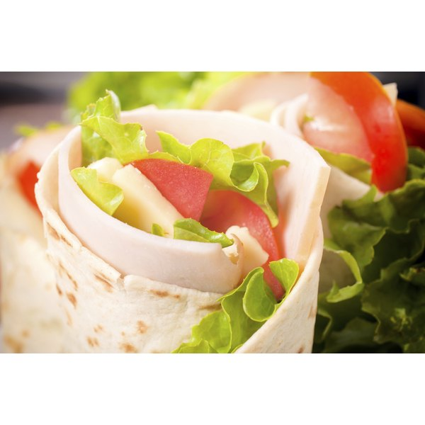 Turkey & Cheese Wraps are a great low calorie choice.