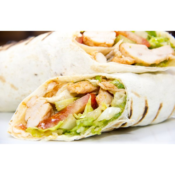 A chicken breast wrap.