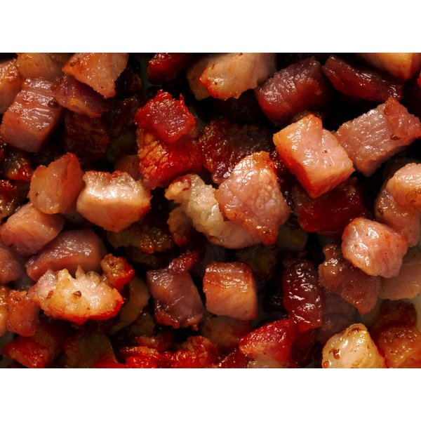 Bacon bits ready to be added to a meal