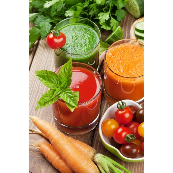 Drink juices regularly throughout the day to avoid hunger pangs.