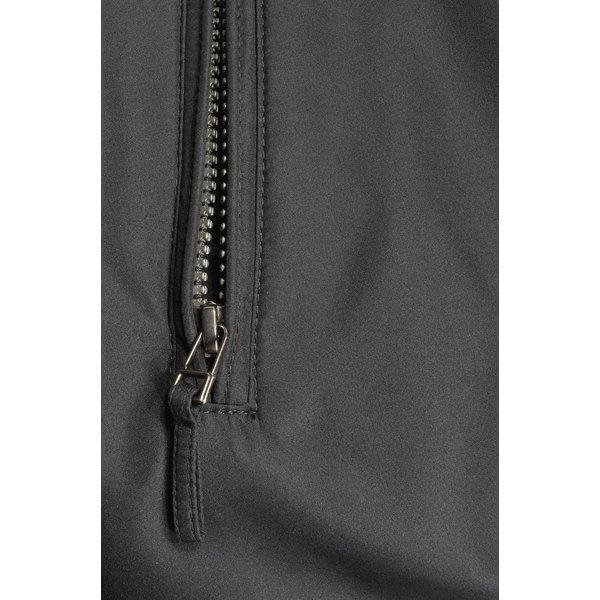 Black polyester twill fabric.