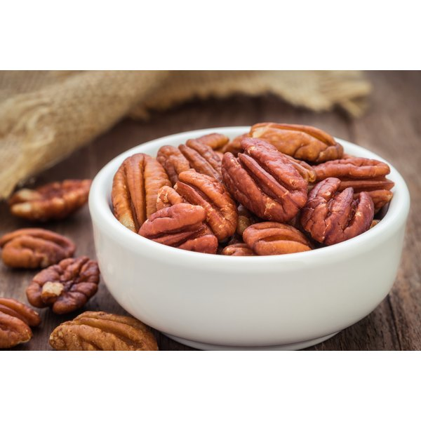 A small bowl of pecans.