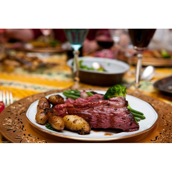 Roast beef is served a family get togethers.