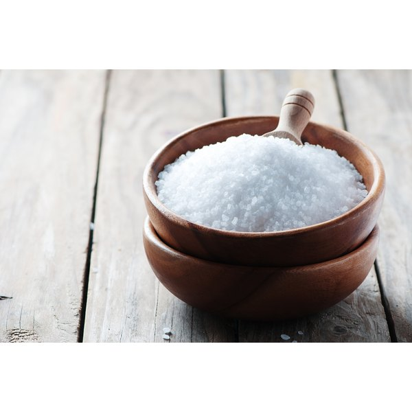 Sea salt in a small bowl