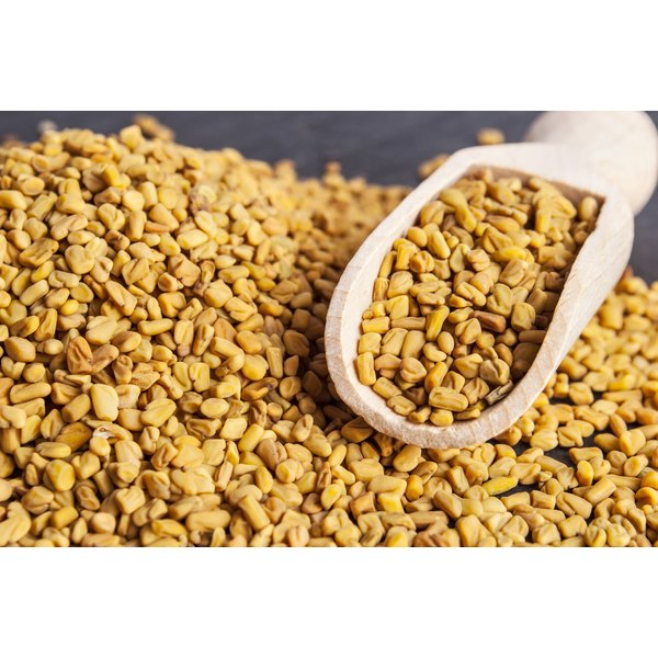 A large pile of fenugreek.