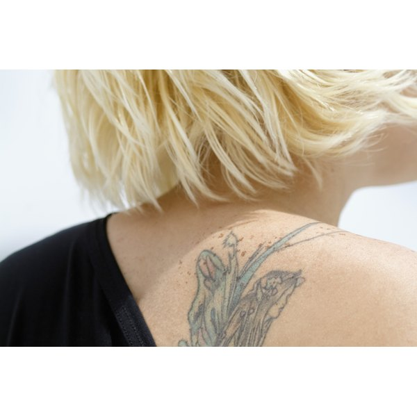 Tattoo removal creams contain skin-lightening ingredients like hydroquinone.