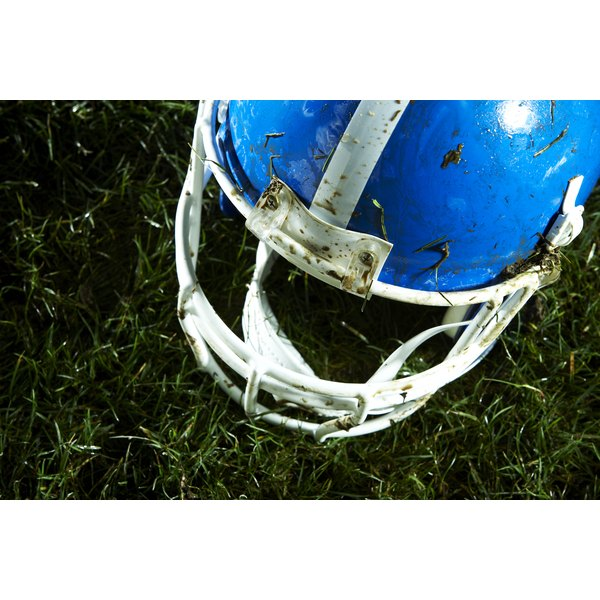 Cleaning football helmets on a regular basis helps prevent the spread of bacteria.