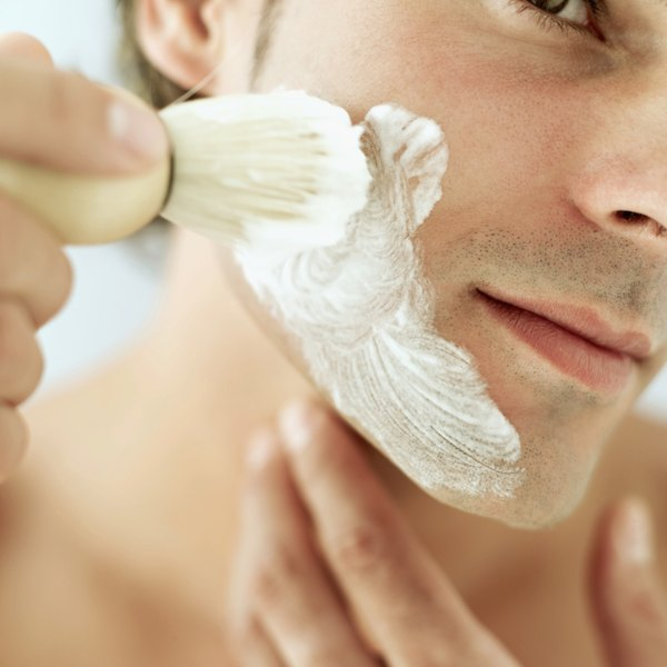 Get a smoother shave by applying shaving cream with a brush.