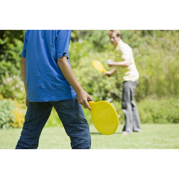 You don't need a net for casual paddle or racket games.