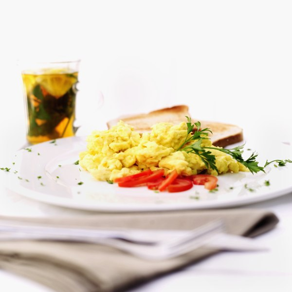 Scrambled eggs can be part of a nutritious breakfast.