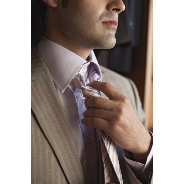 Silk ties can lose their shine after dry cleaning treatments.