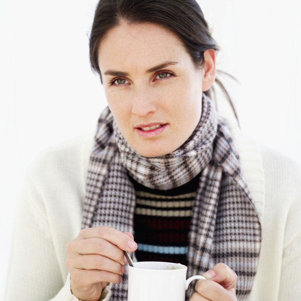 The coarse fibers in wool scarf materials can cause irritation to your skin.