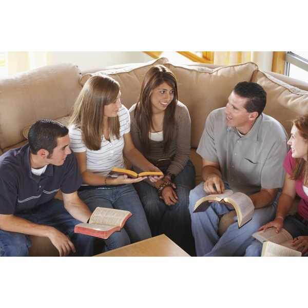 Small group Bible studies can give teens guidance.