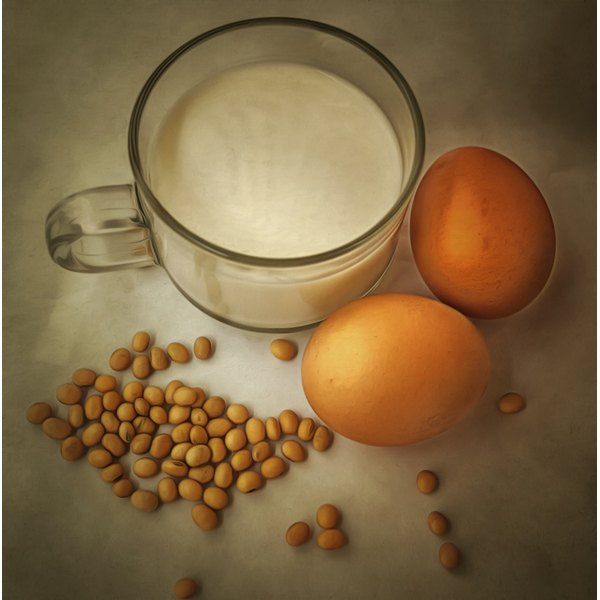 Eggs, soybeans and milk contain lecithin.