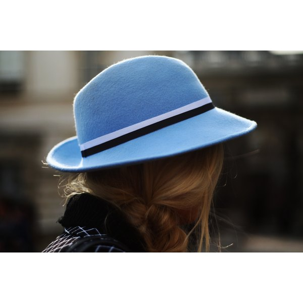 If the hat fits, like this one at London Fashion Week, it's comfortable as well as fashionable.