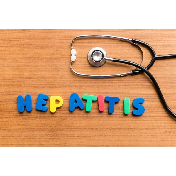 The most common types of viral hepatitis are hepatitis A, B and C.