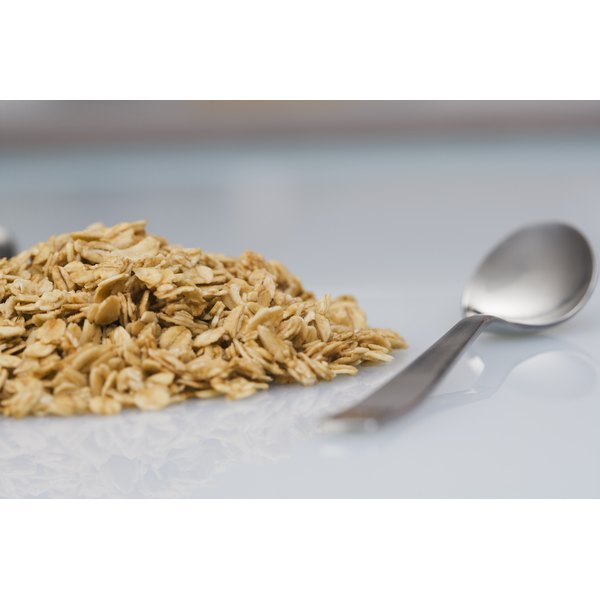 Oat flour, made from oats, helps treat skin irritations.
