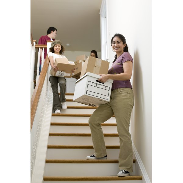 Moving can be stressful for toddlers and young children.