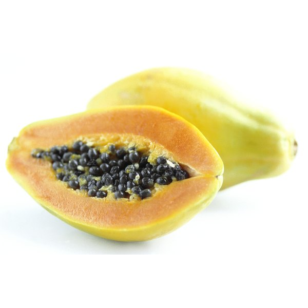 Papayas are also called paws-paws or tree melons.