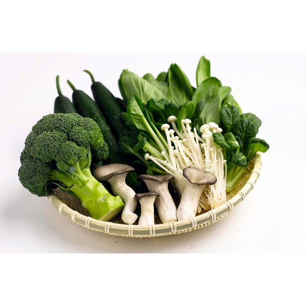 Green vegetables are high in Vitamin K.