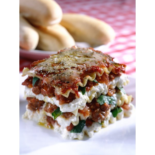 A layer of ricotta adds a fresh, milky flavor to lasagna.