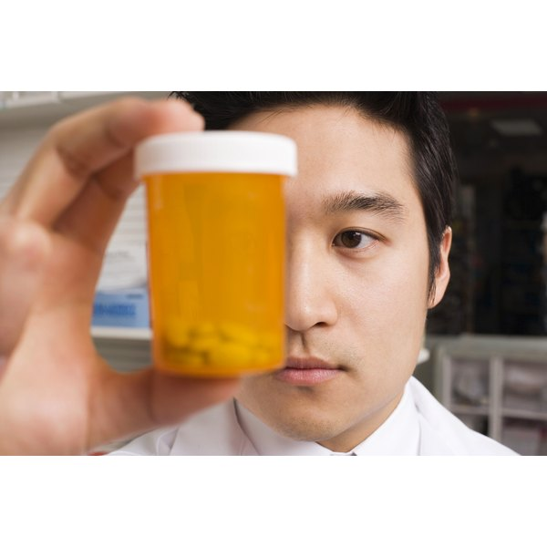 Pharmacist filling a prescription