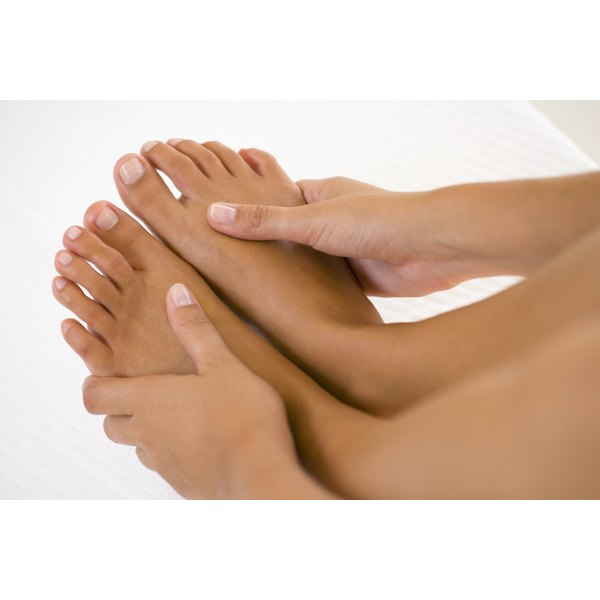 Feet can swell during menstruation.