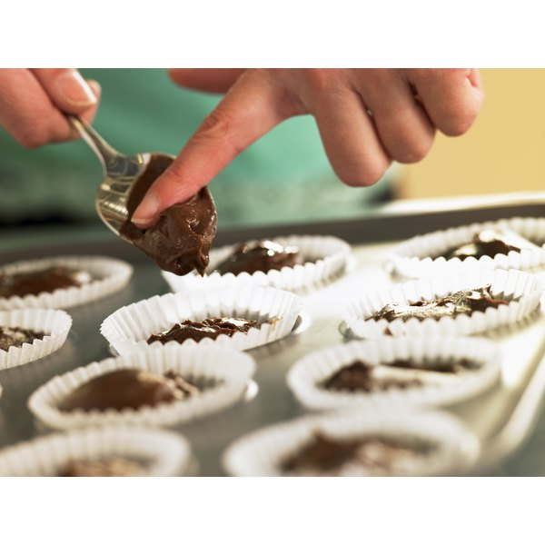Drop a piece of candy into unbaked cupcake batter for an easy sweet treat.